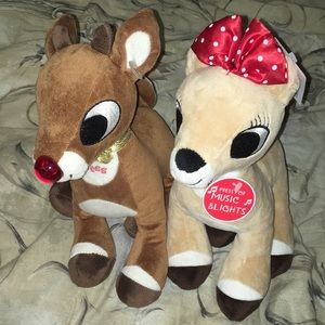 Rudolph and Clarice Plush